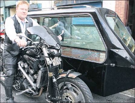 motor cycle hearse